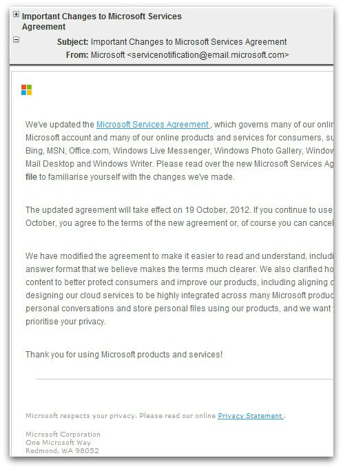 """Malware attack blasted out in """"Important Changes to Microsoft"""