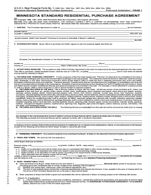 Minnesota Purchase Agreement Fill Online, Printable, Fillable