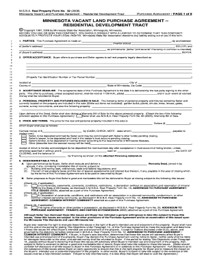 Land Purchase Agreement Forms and Templates Fillable & Printable