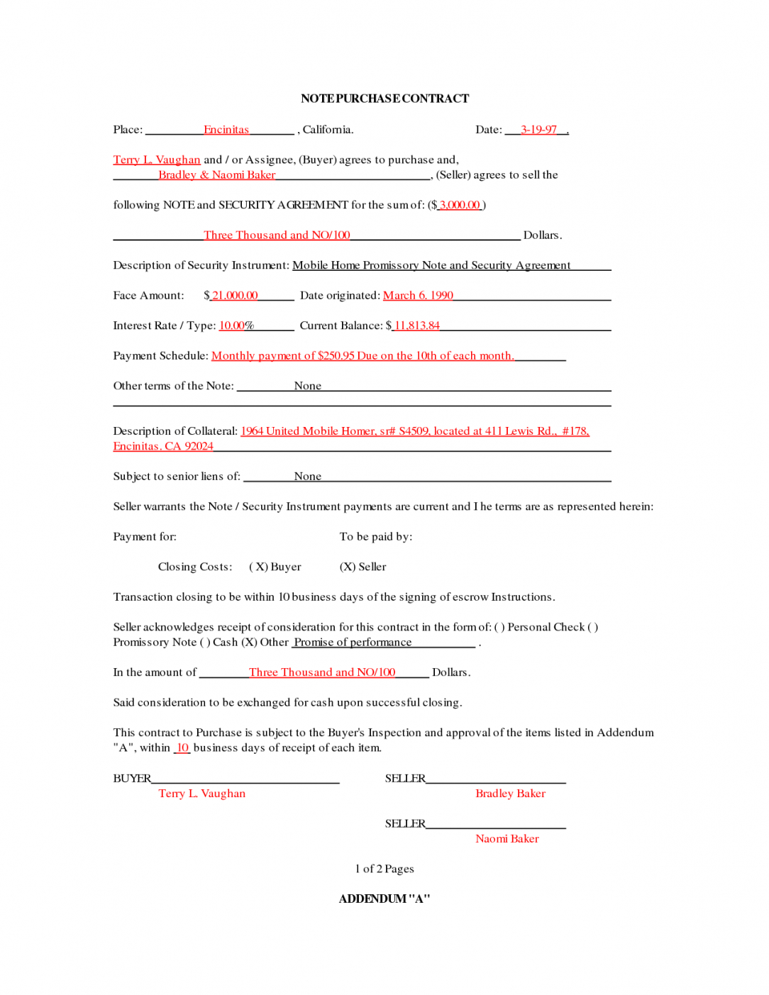 mobile home purchase agreement template mobile home purchase
