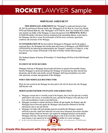 Mortgage Agreement Template Mortgage Lien Form (with Sample)