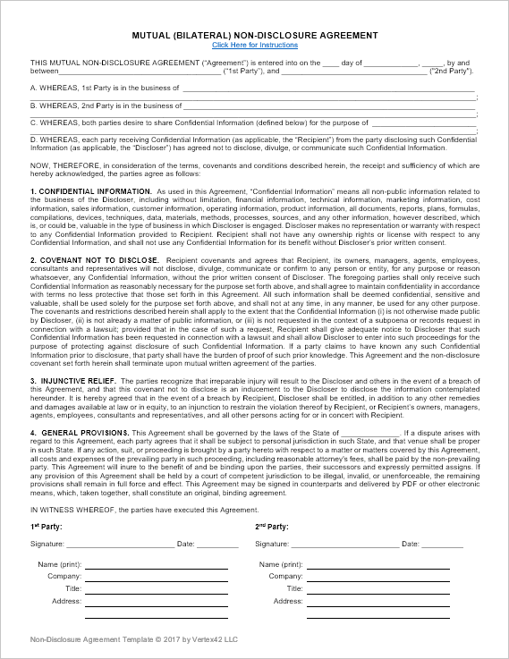 mutual confidentiality agreement template mutual agreement