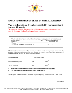 mutual lease termination agreement template mutual termination