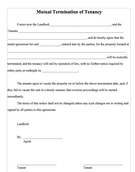 11+ Lease Termination Agreements | Sample Templates