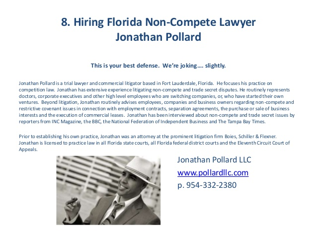 Florida Non Compete Agreements: Top Defenses