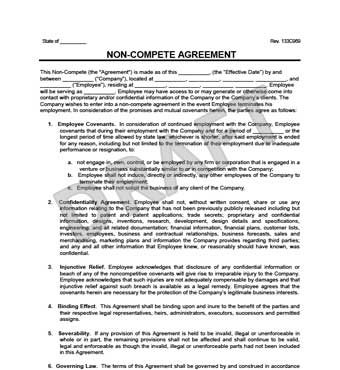 illinois non compete agreement template non compete agreement