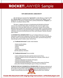 Non Disclosure Agreement (NDA) Form Create a Free NDA Form