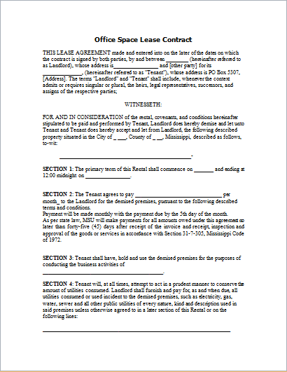space rental agreement template home office rental agreement