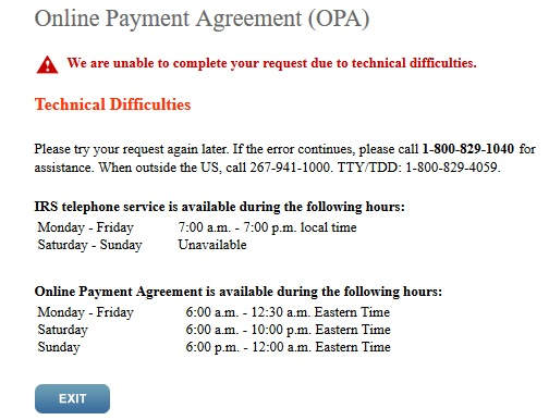 Is the IRS Online Payment Agreement Site Down? Absolute Computers
