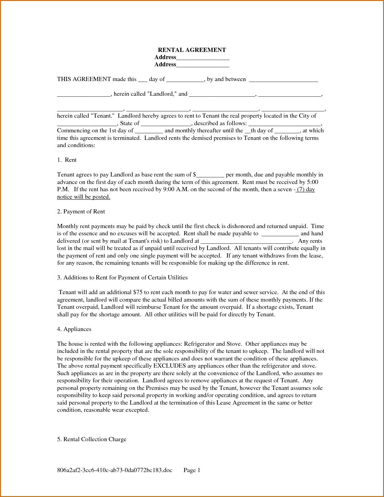 7+ online rental agreement | Authorizationletters.org