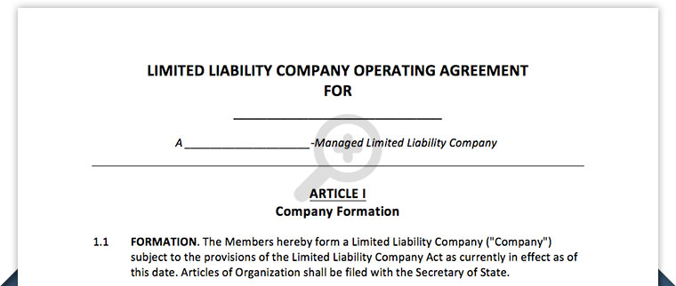 Arizona Llc Operating Agreement Template