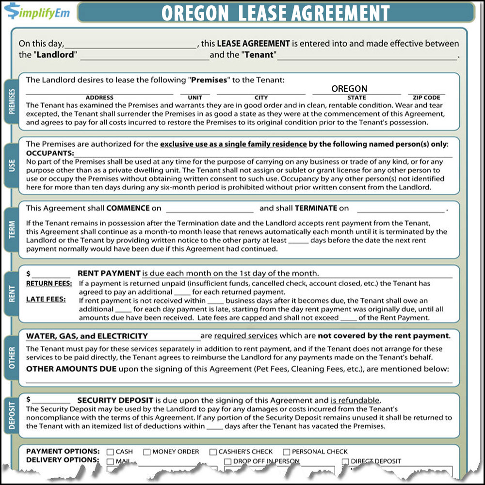 Oregon Rental Agreement