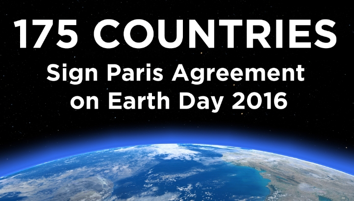 175 countries sign Paris climate agreement on Earth Day