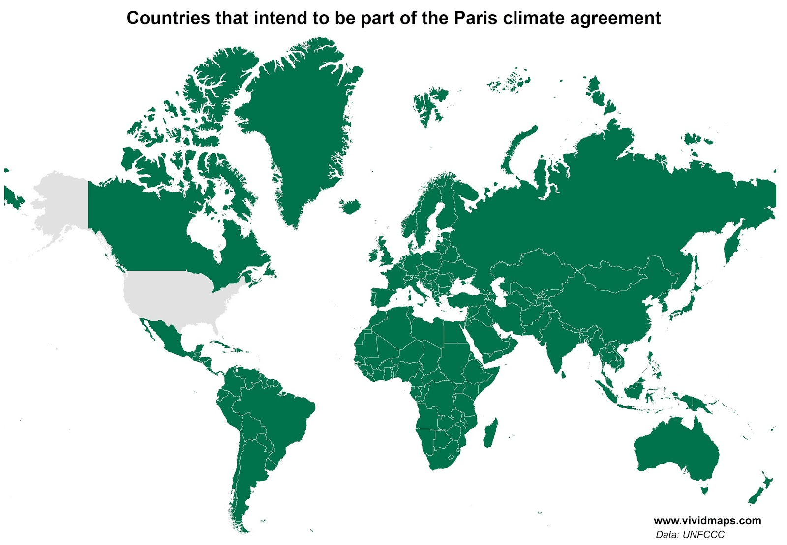 All countries have signed Paris agreement except the U.S. Ecoclimax