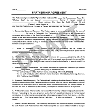 Partnership Agreement Template | Create a Partnership Agreement