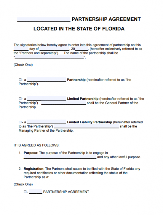 florida certificate of status and corporate agreement templates