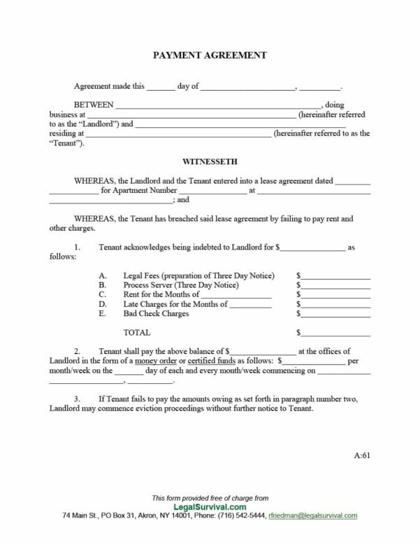 payment agreement letter between two parties template payment