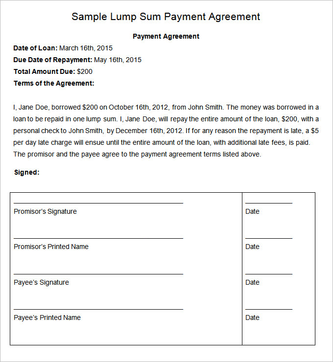 Payment Agreement Contract Pdf Gtld World Congress