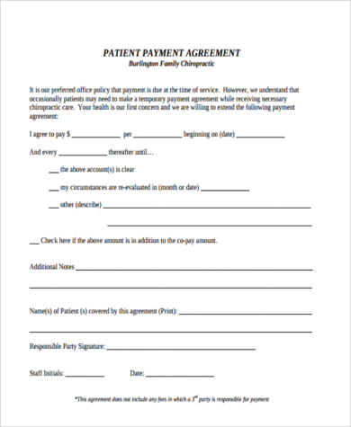 automotive payment agreement form template vehicle payment