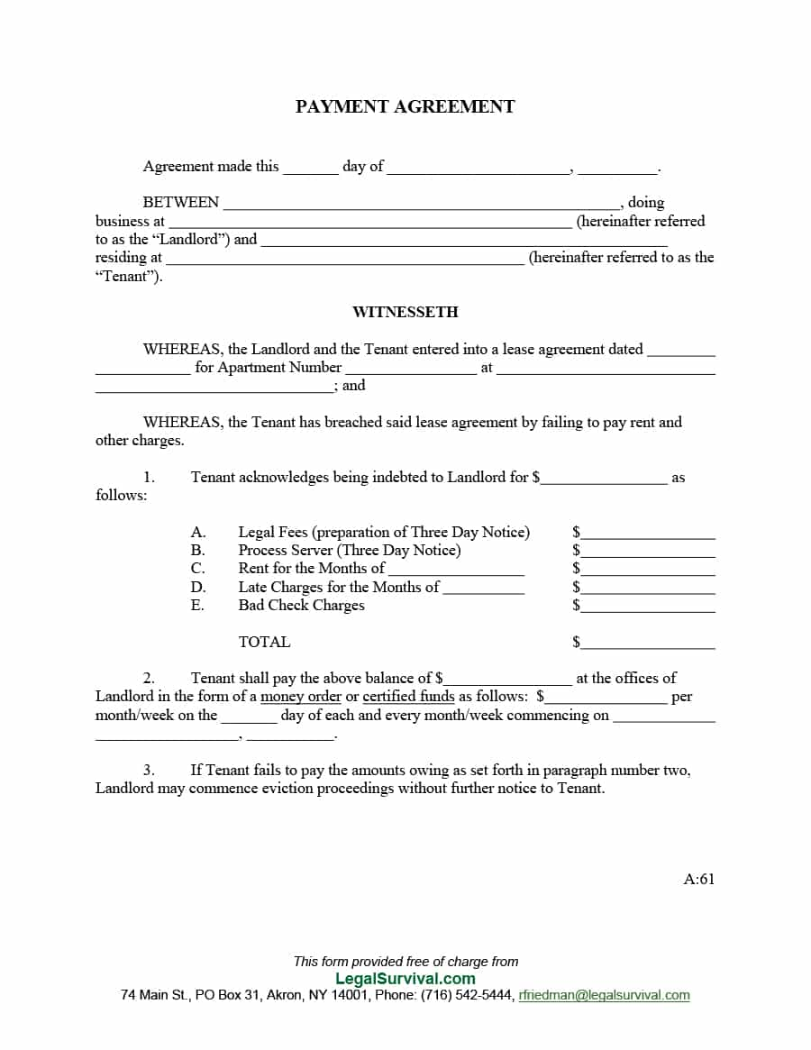 rent payment agreement template rent payment agreement template 9