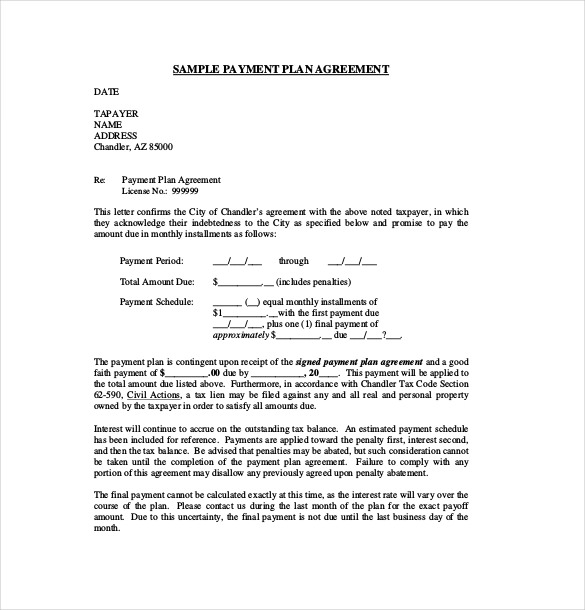 repayment agreement template 16 payment agreement templates free