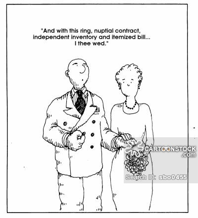 Prenuptial Contract Cartoons and Comics funny pictures from