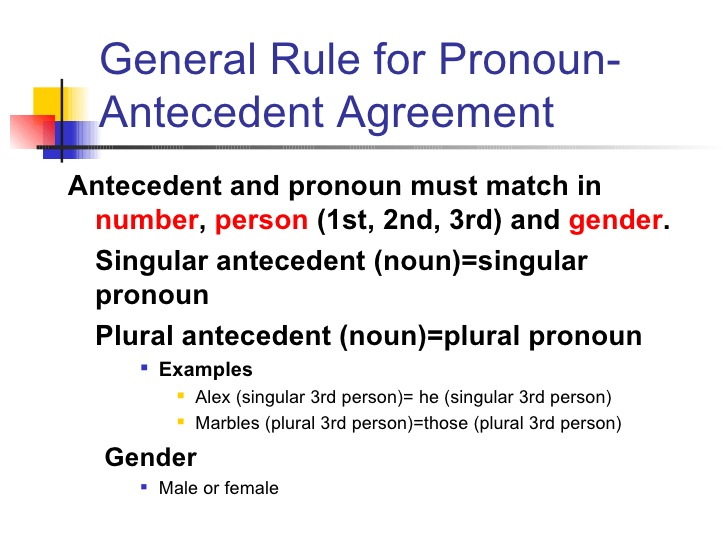 Pronoun And Antecedent Agreement Gtld World Congress