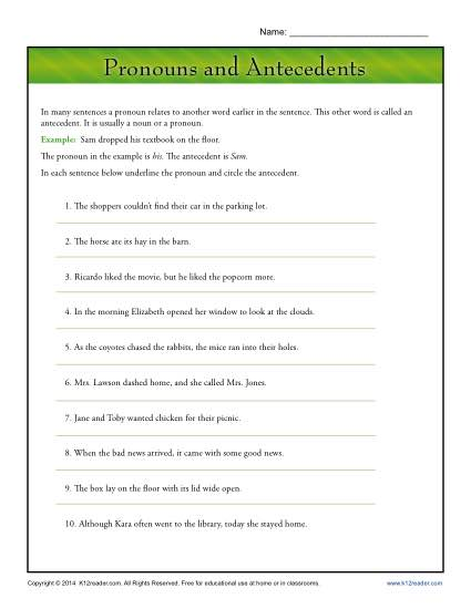 Free: 10 sentences with multiple choice answers; great for a quiz