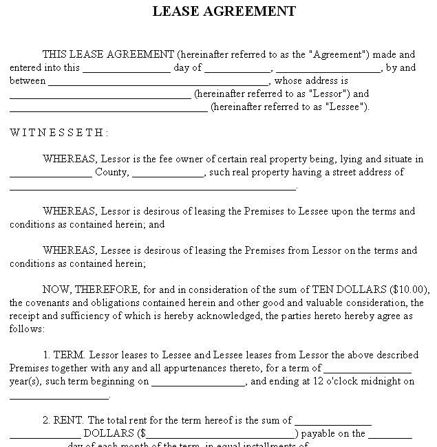 Delightful Property Lease Agreement Template Lease Agreement Sample Rental