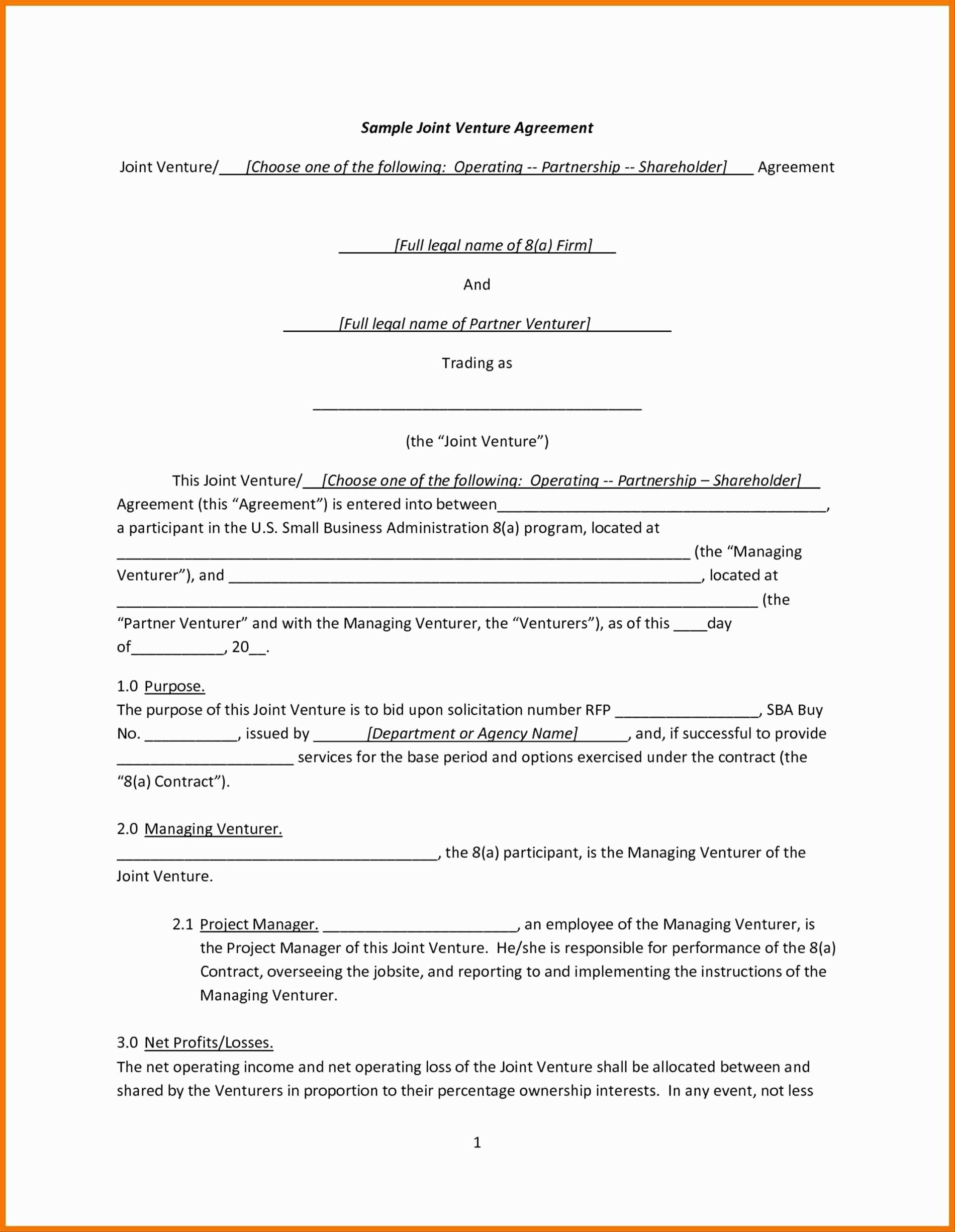 Property Management Agreement Doc Gtld World Congress