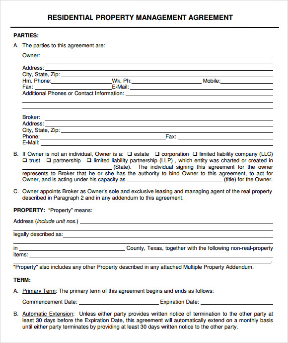 30 DAY NOTICE TO TERMINATE PROPERTY MANAGEMENT AGREEMENT PDF