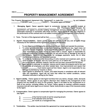 hoa management agreement template property management agreement 8