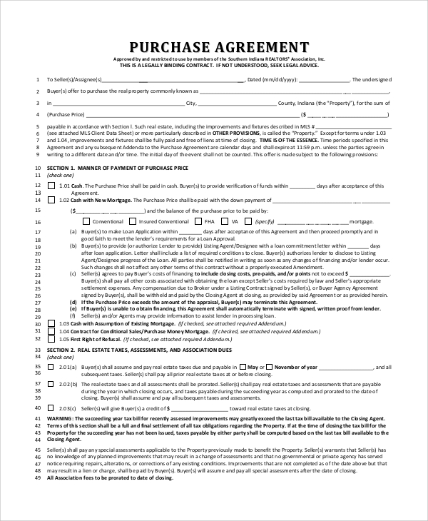 Free Indiana Lease to Own (Option to Purchase) Agreement Template