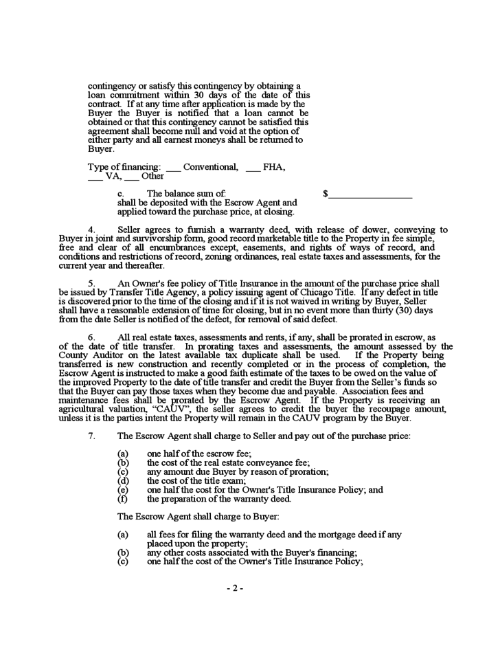 ohio real estate purchase agreement template purchase agreement