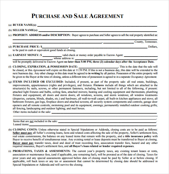 Estate Purchase And Sale Agreement Gtld World Congress