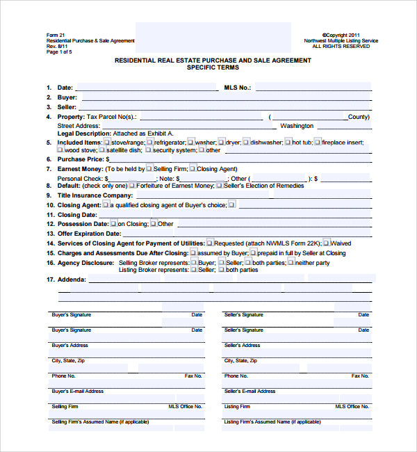 real estate sales agreement forms Archives Simon Sessler