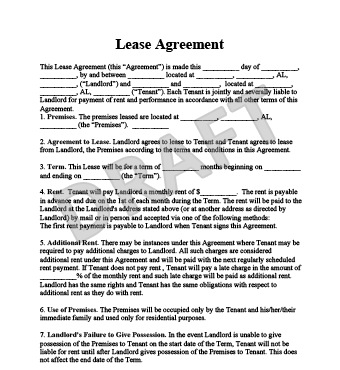 Lease Agreement Create a Free Rental Agreement Form