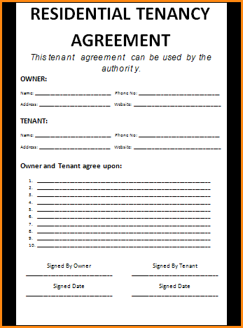 tenancy agreement contract template 13 rental agreement contract
