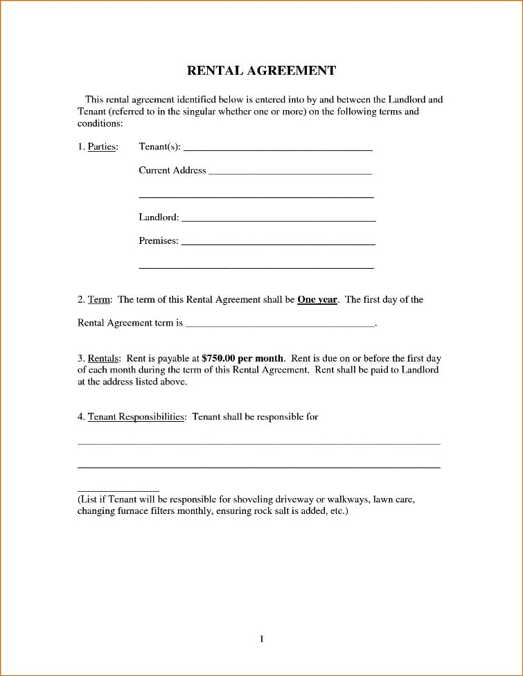 Simple lease agreement form good pictures rental template