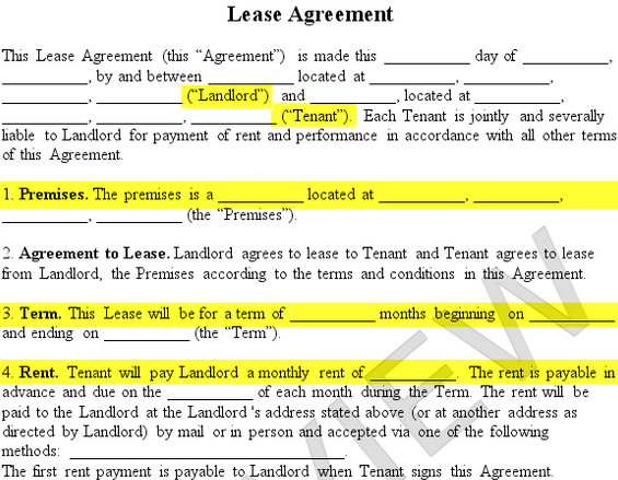 leasing agreement template lease agreement create a free rental
