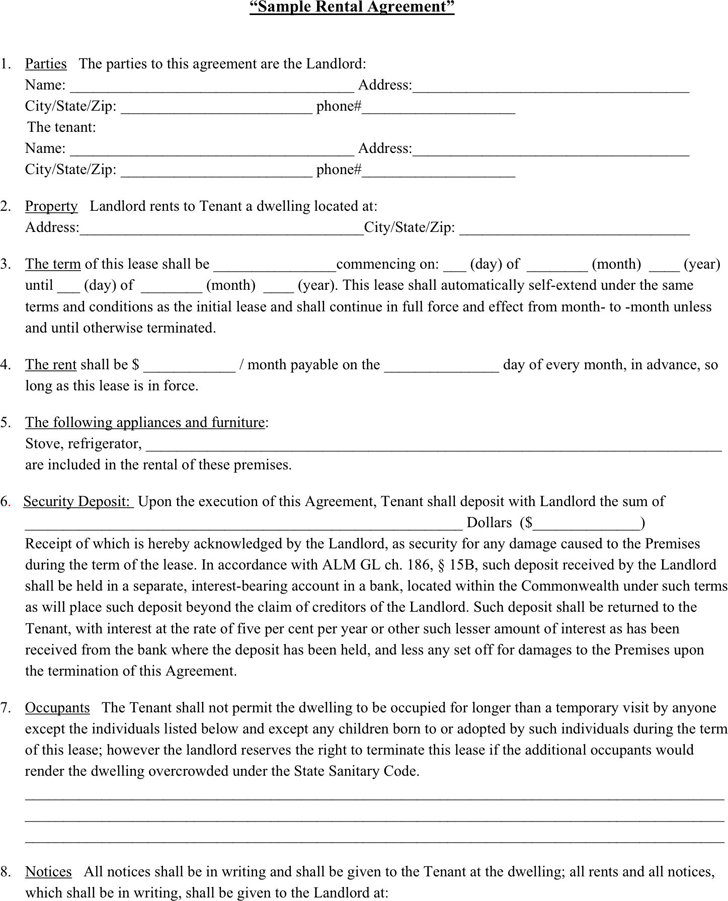 Renters Lease Agreement Form Gtld World Congress - House lease agreement template