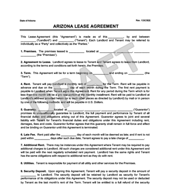 residential lease agreement form california Archives