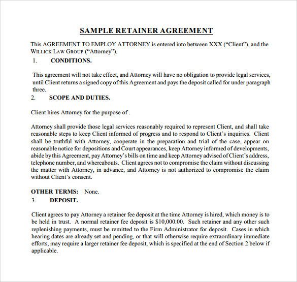consulting retainer agreement templates eczasolinfco