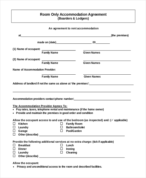 room rental agreement template free 13 room rental agreement