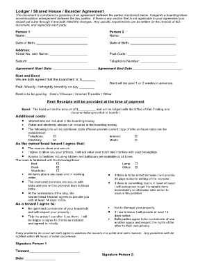 room rental agreement shared housing Forms and Templates
