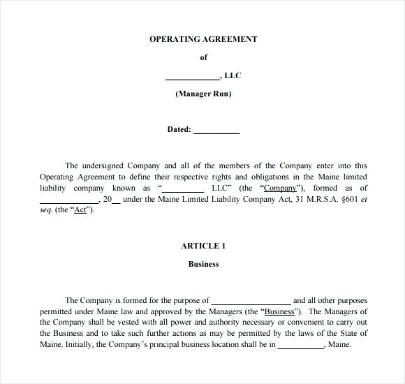 s corp operating agreement template simple llc operating agreement