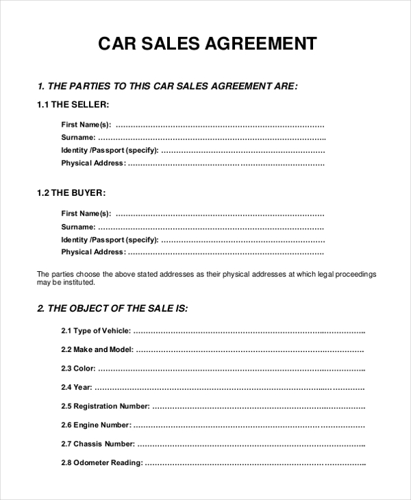 sale agreement forms Into.anysearch.co