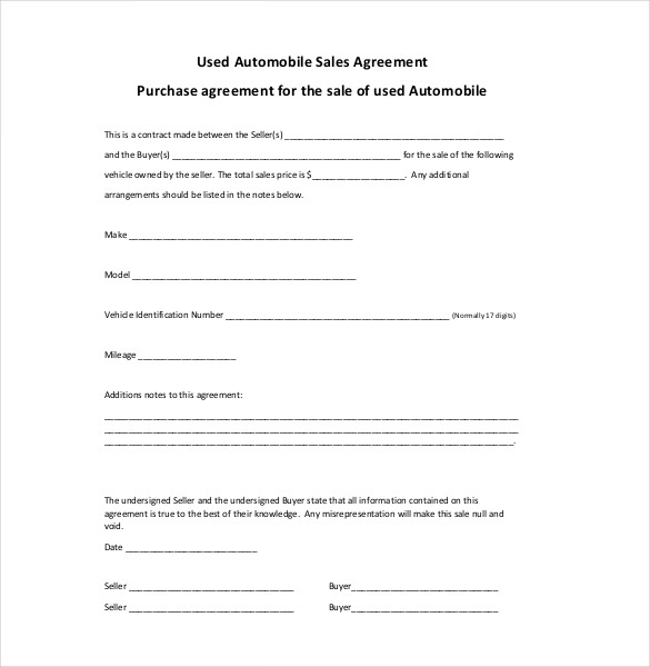 sales agreement template word sales agreement template 15 free