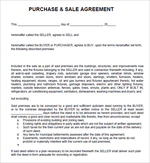 purchase and sale agreement template south africa  Sales Agreement Template | gtld world congress