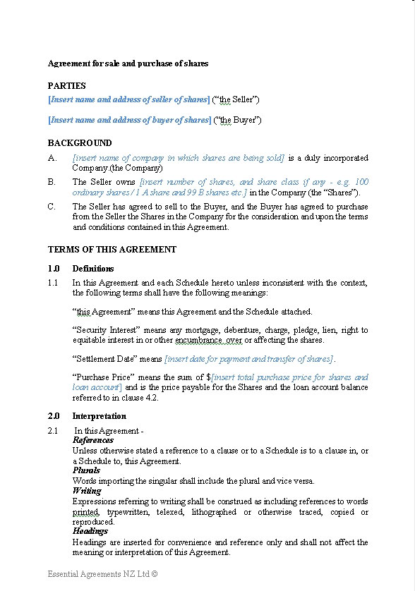business sale and purchase agreement template business sale